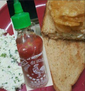 SrirachaCottage CheeseSandwich