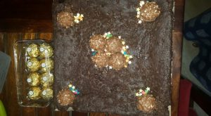Ferraro Brownie Cake