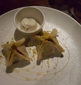 Dessert menu at USAEC
