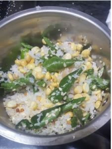 making of Curry Leaves Chutney
