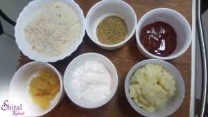 ingredients for potato cheese balls