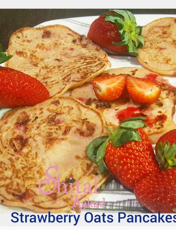 Strawberry Oats Pancakes