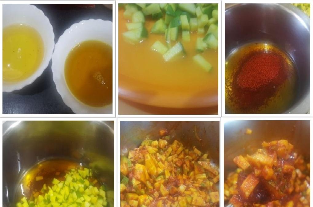 making mango pickle