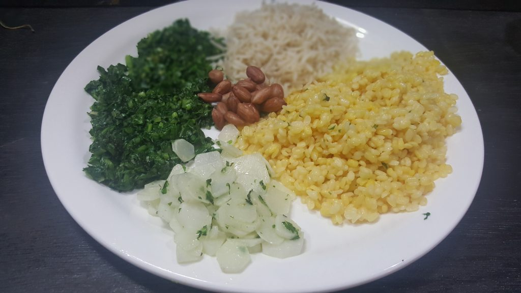 Ingredients for Moongdal salad