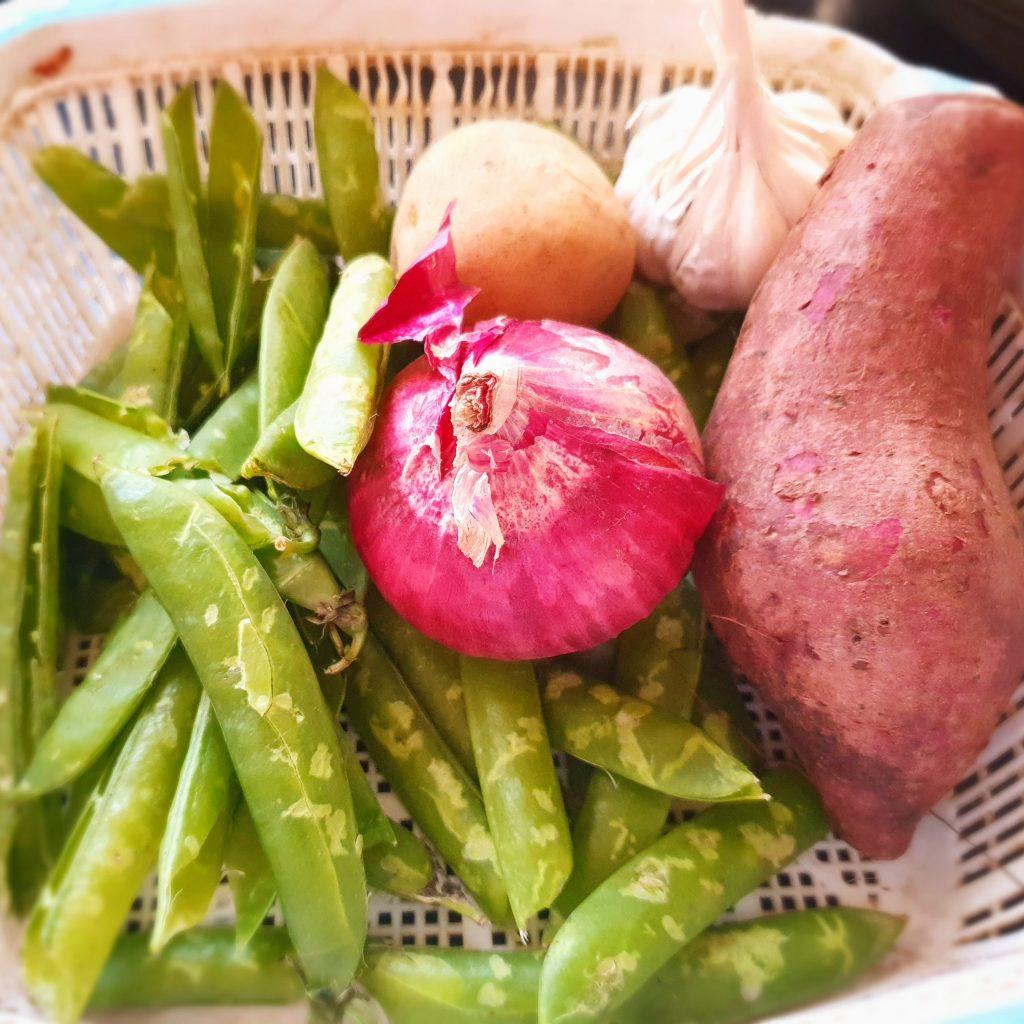 peas and onion